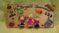 3 character Teacher's Classroom Personalised 3d Unique Sign Plaque Gift Handmade One of A Kind Any Phrasing Wooden